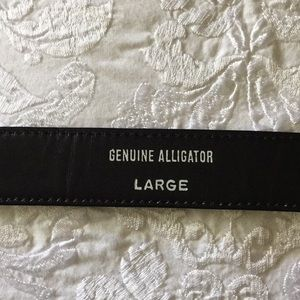 ? Accessories - Genuine Alligator Belt in black (worn once)